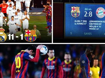 Barcelona greatest misfortunes ever.