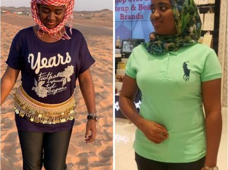 Check Out Some Rare Photos Of Actress, Aisha Humaira Rocking In Trousers.