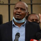 What Moses Kuria Did In front Of Uhuru During Wakapee's Funeral Leaves Kenyans Talking [Photo]