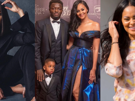 Meet The Beautiful Wife Of Sulley Muntari And His Handsome Son.
