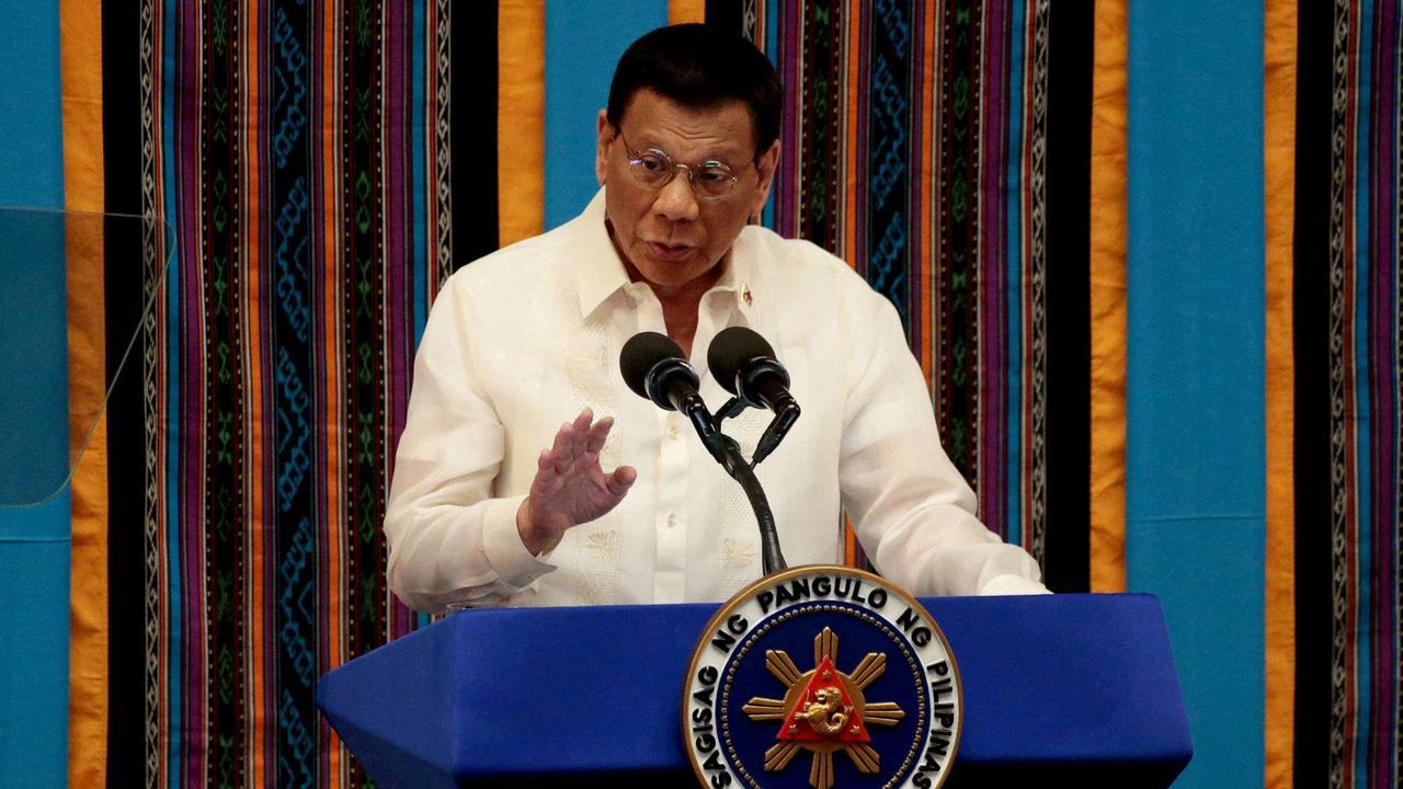 Philippines' Duterte reappears in public, dismisses rumours of health problems