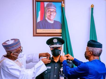 Breaking : New acting IG Alkali Baba decorated by vice president of Nigeria (photos)