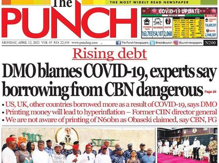 April 12 Headlines From Punch News