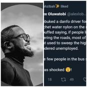 After I Rebuked A 'Danfo' Driver For Throwing Sachet Water Nylon On The Road, See What He Said- Man