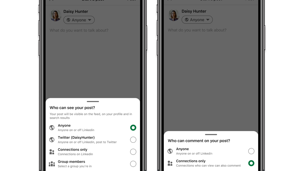LinkedIn brings some reply tools to help users control who may respond to their posts and who may not