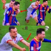 Make Sure You Don't Laugh After Seeing What This Sevilla Player Wanted To Do To Lionel Messi Today