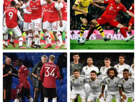 Top Matches of the Day, as Manchester United, Barcelona and Arsenal Return to Action