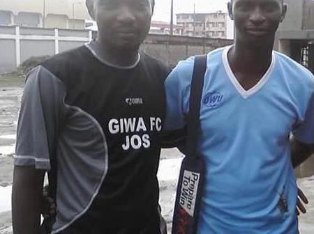 Throwback picture of Enyimba Coach Osho and Kwara United Abdullahi Biffo