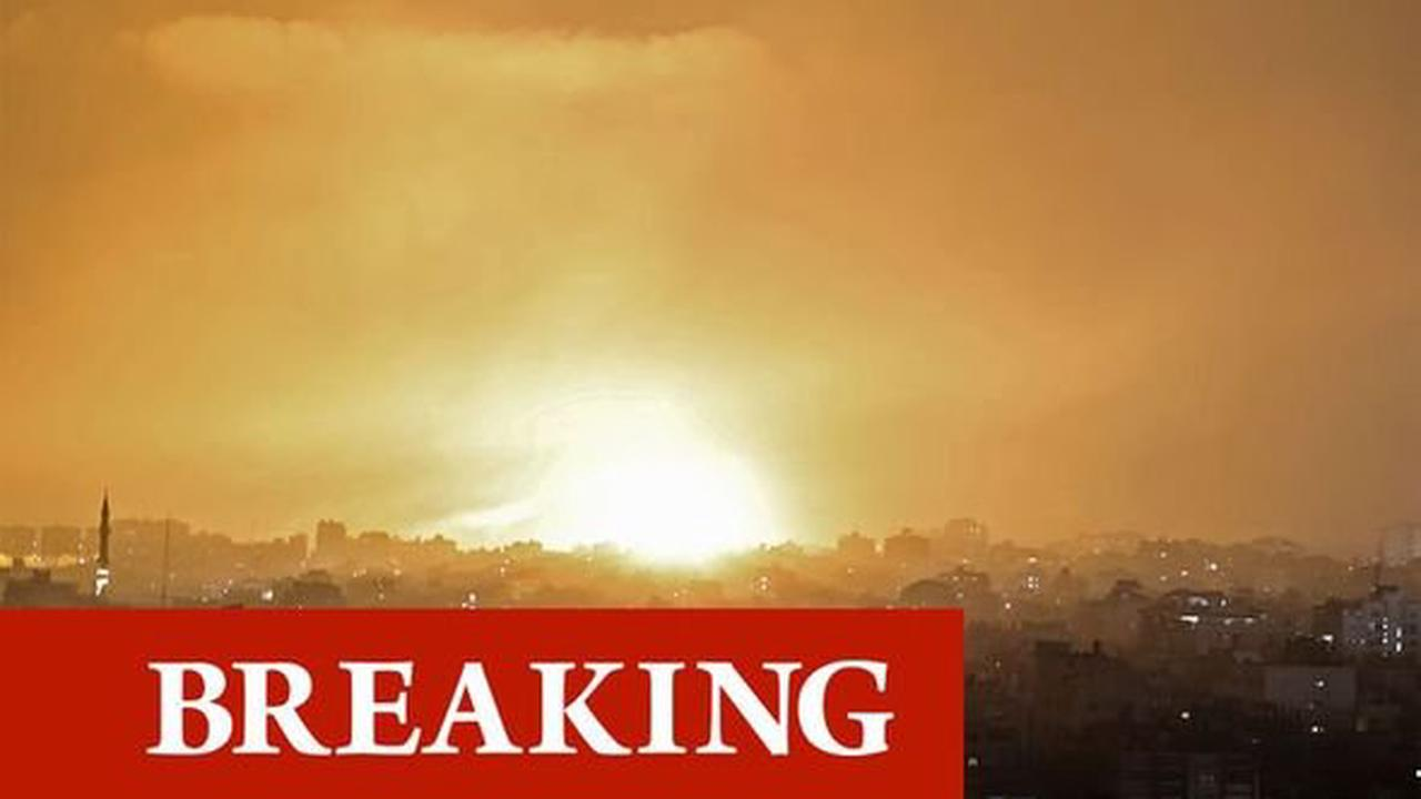 Israel army confirms ground troops 'attacking Gaza Strip' as Palestine conflict escalates