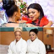 Photos Of Bobrisky And Tonto Dikeh Spending Quality Time And Having Fun Together