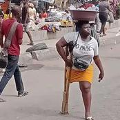 After Pictures Of Lagos Amputee Water Hawker Went Viral, See What Lagos State Government Did For Her