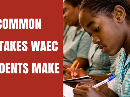 Common mistakes waec students makes.