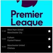 EPL Week 6. Time of Matches and fixtures
