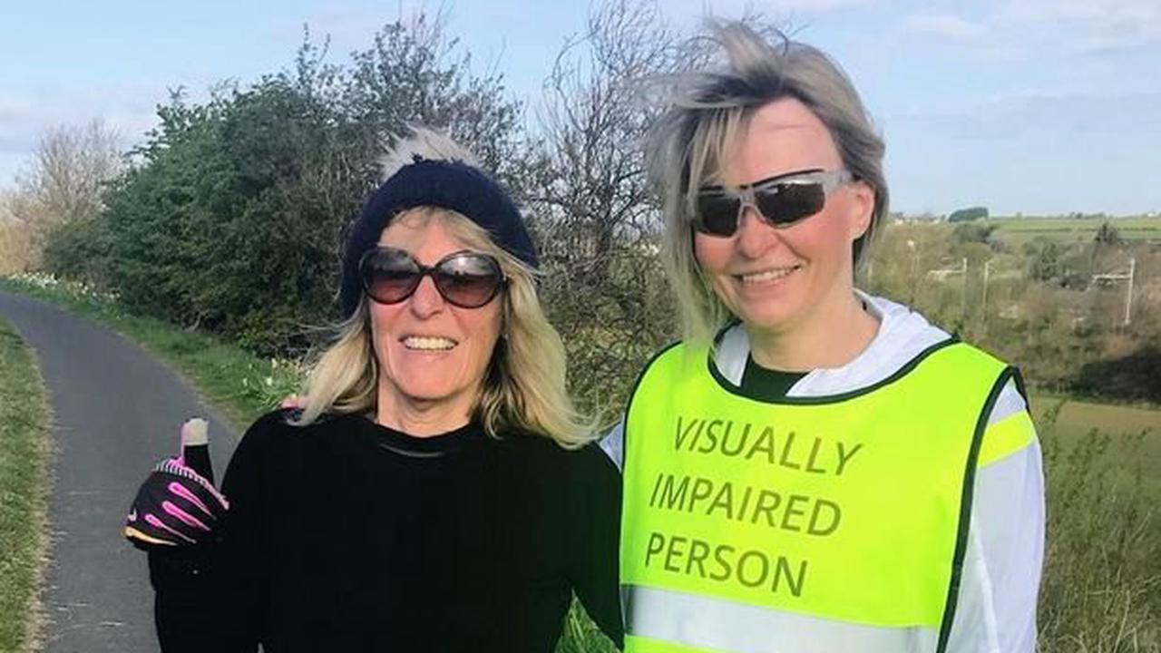 Two ex-teachers from West Lothian are taking on a marathon together for charity