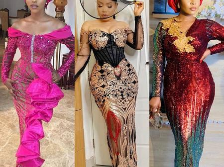 Exquisite and Sophisticated Ankara & Lace Gown Designs