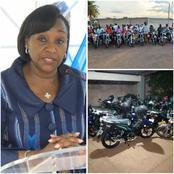 Toumodi : Raymonde Goudou Coffie offre plusieurs matériels roulants à la délégation du RHDP