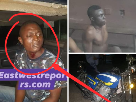 Exposed: This Police Officer, One Other Were Allegedly Caught Robbing Residents In Port Harcourt