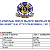 TSC Advertises For Over 1,400 Teaching Posts [Full List]
