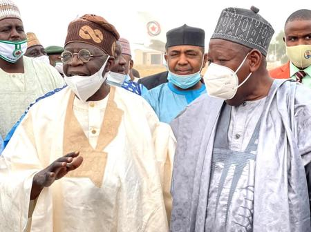 See Photos And Reaction as Asiwaju Bola Ahmed Tinubu lands in Kano