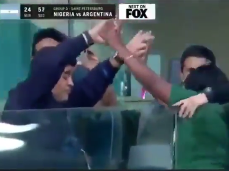 Throwback: See A Video of Maradona Dancing With A Nigerian Lady During The 2018 World Cup in Russia