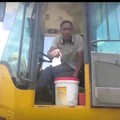 Omosh Showcases His Tractor Operating Skills [Photos]