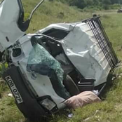 Two Feared Death In Accident After Car veered Off The Road.