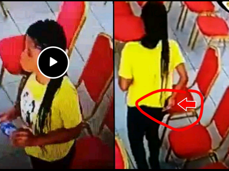 Wrong: See What This Lady Was Caught Doing In The Church That Causes Reactions Online