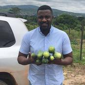 Ghanaian Actor john Dumelo Owns A Farm In Ghana, See Photos