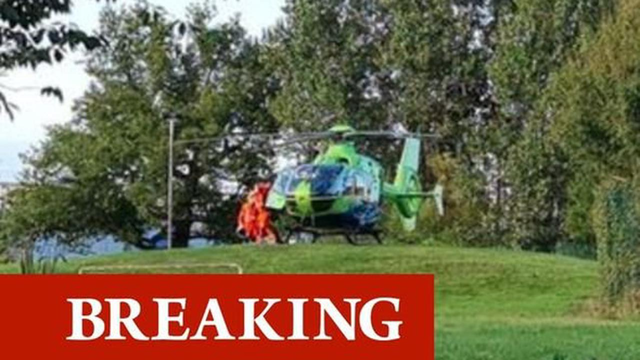 Panic as armed police and air ambulance rush to scene of emergency near Bristol