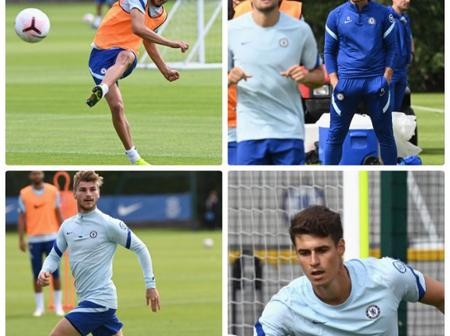 Pictures: Chelsea Players Returns To Training For The First Time In Preparation For New Season
