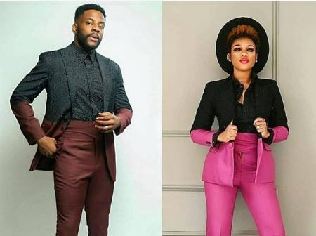 See Cute Pictures of Ebuka and Woman Who Seems to be Copying His Fashion Styles