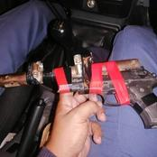 A Picture of a gun the police found from a man has left many South Africans in disbelief