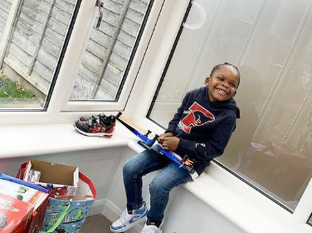 See 20 Charming Pictures Of Naira Marley's Handsome Son (Picture)