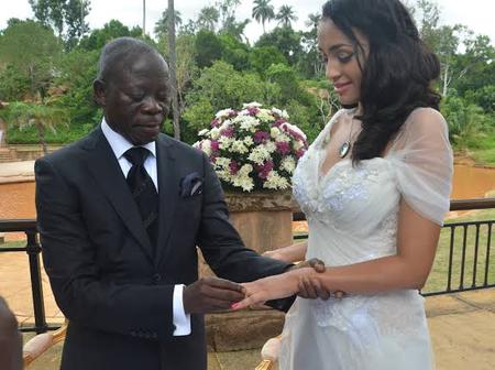 5 Years After Adams Oshiomole Got Married To A Foreign Lady, See Photos Of The Lovely Couple
