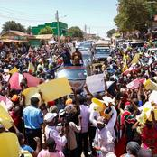 See How People Turned Out At Mwatete To Meet Raila Odinga