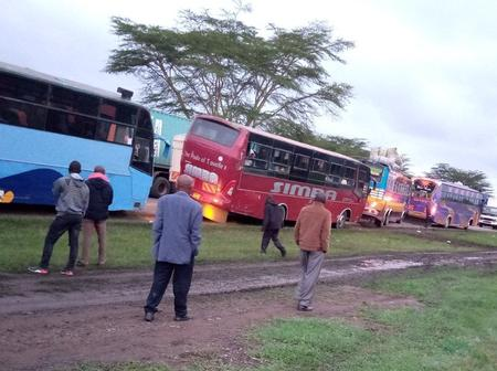 Roads to Western Kenya and Nyanza now a parking lot with over 20 kilometres of traffic jam