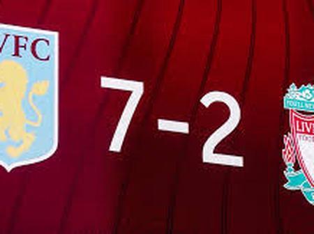 Aston villa 7 - 2 Liverpool, See How The Drama Unfolds.