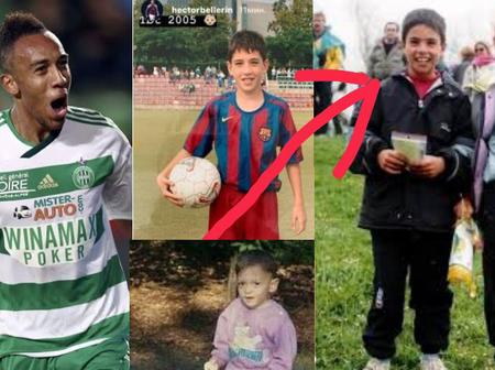 Check Out Childhood Photos Of 4 Arsenal First Team Players And Their Coach.