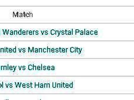 Premier League Fixtures this Weekend and Monday