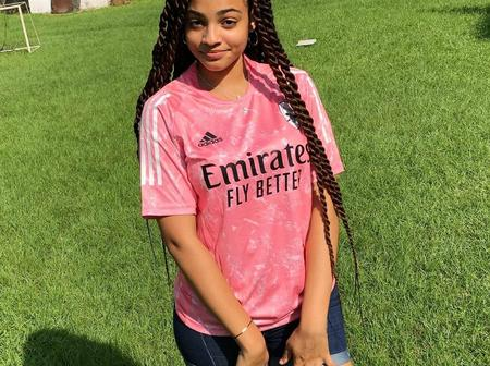 """""""Arsenal Doesn't deserve You"""" – See Photo of Lady wearing an Arsenal Jersey that Got people talking"""