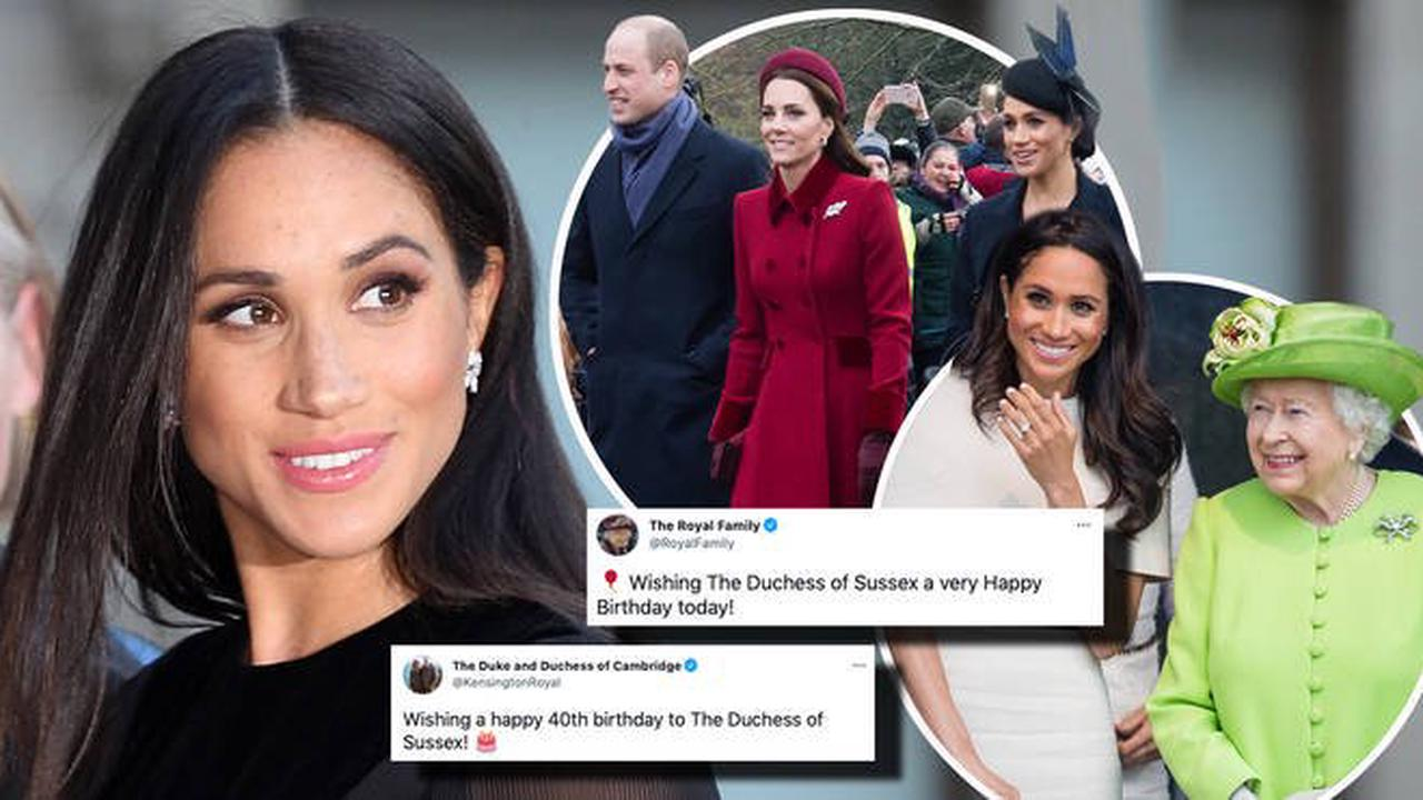 The Queen, Kate and William share touching messages for Meghan on her 40th birthday