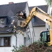 Secret is out! Son-in-law demolishes mother-in-law's house for not being a baby daddy