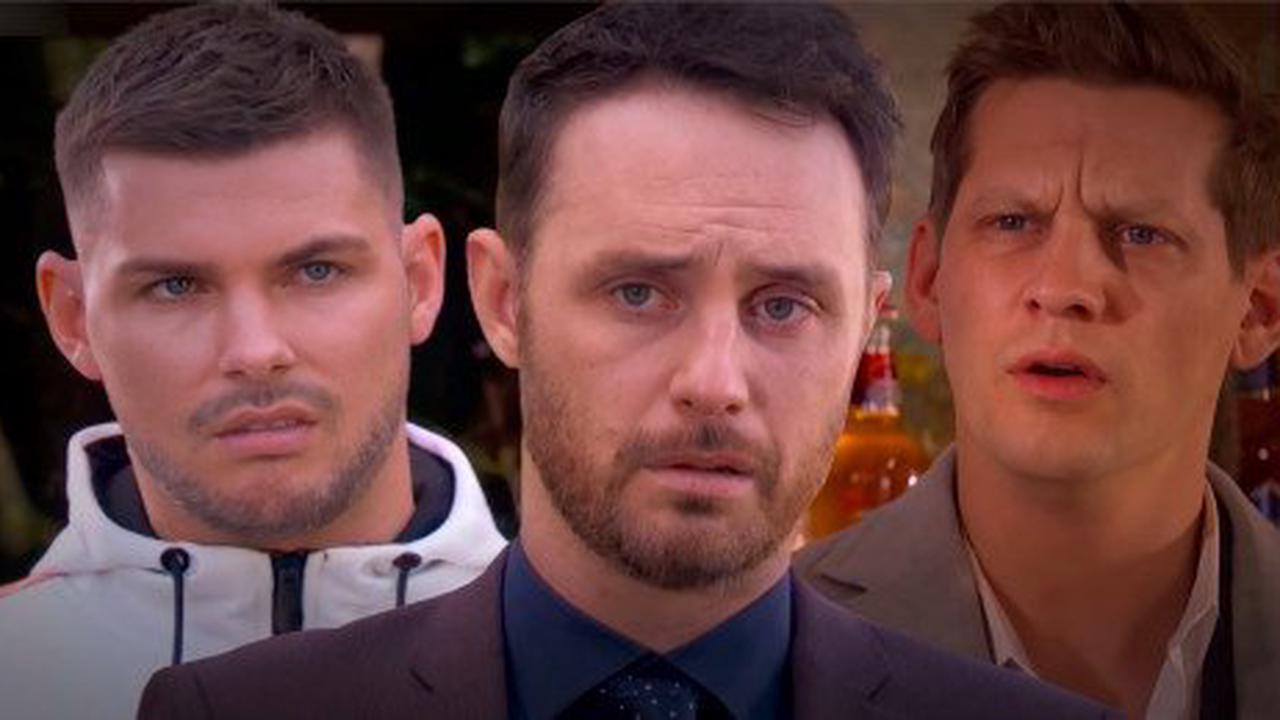 Ste discovers James and John Paul's sex secret in Hollyoaks