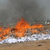 Photos: NDC agents witness burning of excess ballot papers