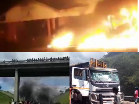 KZN People Went And Burned Municipal Hall & Several Cars In Protests Today.