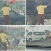 A LASMAN Caught the attention of many Online while carrying out his duty, See what he did (Video)