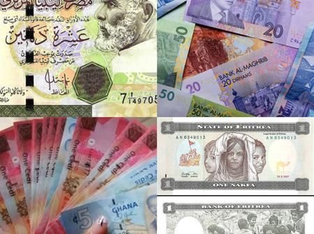 Ranking Top 7 Countries with The Most Valuable Currencies In Africa 2021