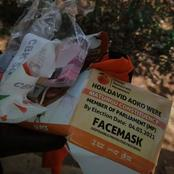 See What Was Discovered Inside The ODM Face Mask, That Was Meant To Be Distributed In Matungu.