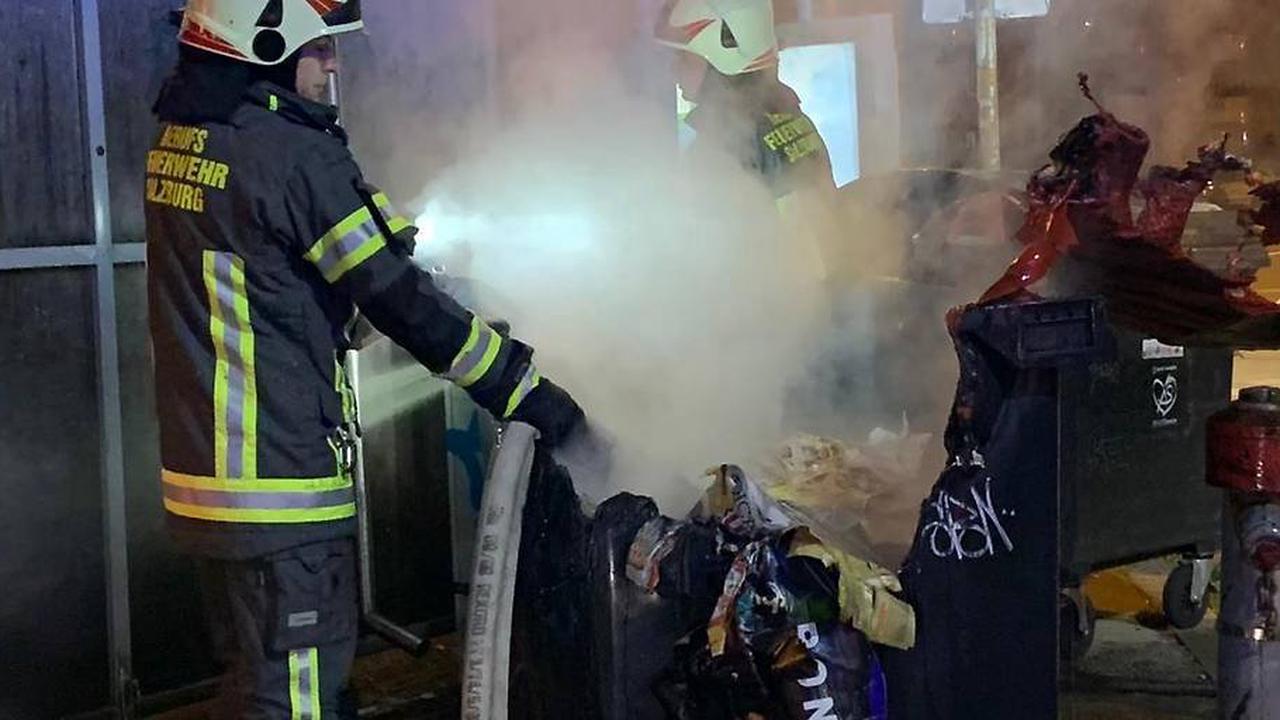 Stadt Salzburg: Erneut Müllcontainer in Brand