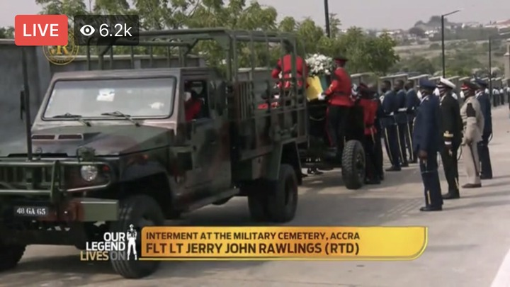 81985d59c05b4019a48c289d324f7526?quality=uhq&resize=720 - Sad Moment: How JJ Rawlings Was Conveyed By The Military To The Newly Built Burna Camp Cemetary